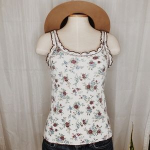 • VINTAGE • sycamore floral ribbed tank top